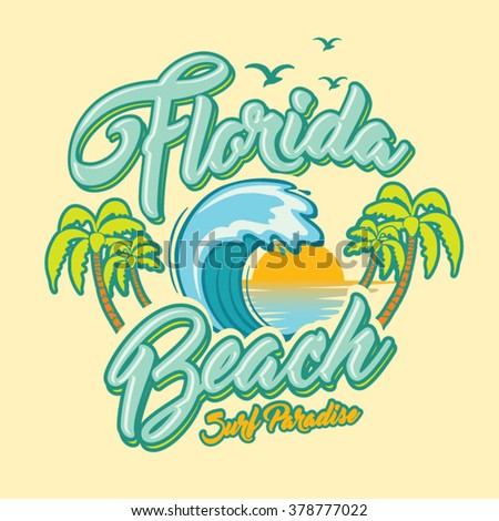 Surf Graphic Tshirt Printing Surfing Design Stock Vector ...