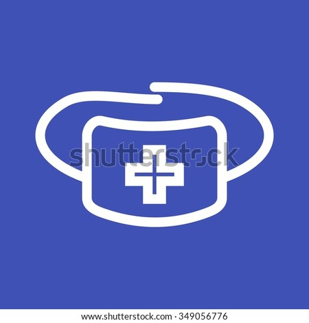 Surgeon, doctor, mask icon vector image. Can also be used for healthcare and science. Suitable for use on web apps, mobile apps and print media.