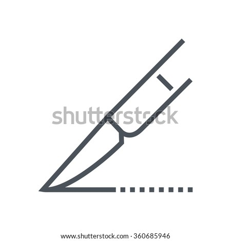 Surgery icon suitable for info graphics, websites and print media and  interfaces. Line vector icon. - stock vector