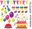 Surprise Birthday Party - stock vector