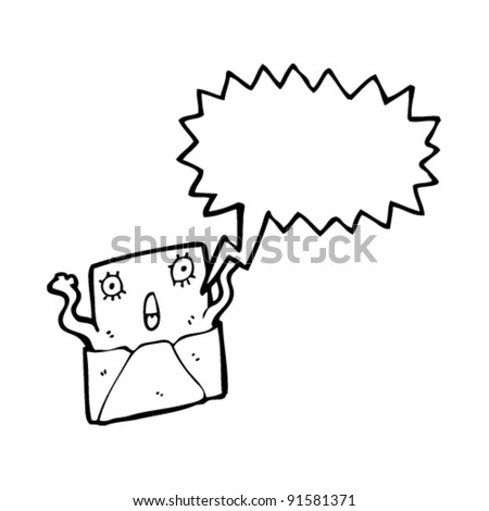 surprise letter cartoon character