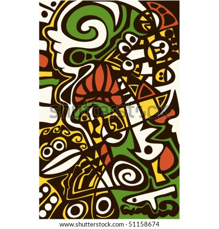 Surreal abstract design, mosaic texture. - stock vector