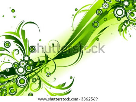 Surreal flowing design - stock vector