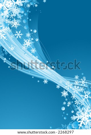 Surreal snowflakes design - stock vector