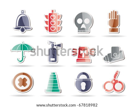 Surveillance and Security Icons - vector icon set - stock vector
