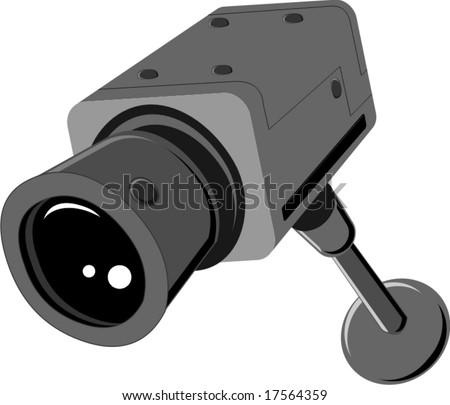 surveillance camera vector - stock vector