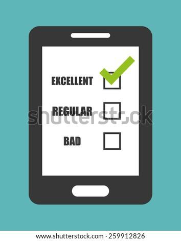 Survey design over blue background, vector illustration. - stock vector