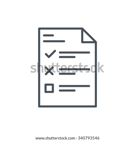 Survey to do list icon suitable for info graphics, websites and print media and  interfaces. Line vector icon. - stock vector
