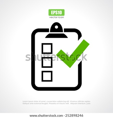 Survey vector icon - stock vector