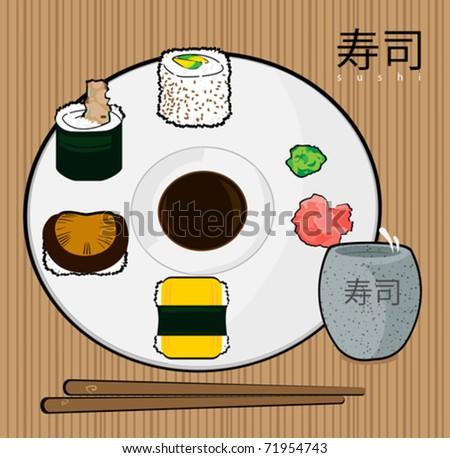 Sushi Rolls - stock vector