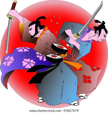Sushi Samurai - stock vector