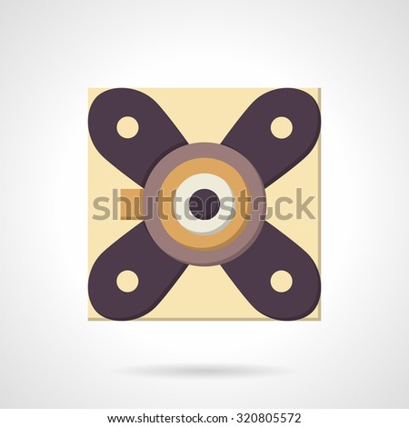 Suspension strut support bearing. Flat color style vector icon. Mechanical parts and components. Elements of web design for business and website. - stock vector