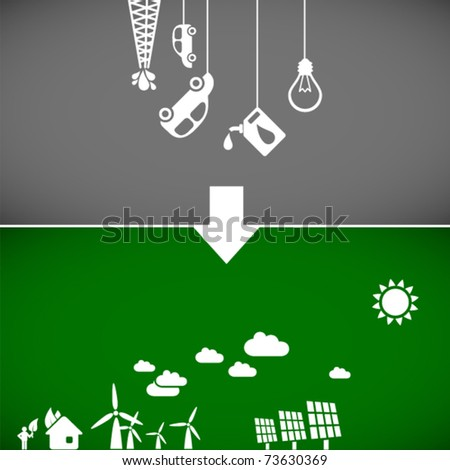 sustainable development concept - ecology banners 2 // see also others from this series in my portfolio - stock vector
