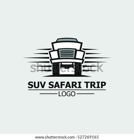 Suv Safari Trip Logo Design Logo Stock Vector Shutterstock