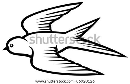 swallow - stock vector