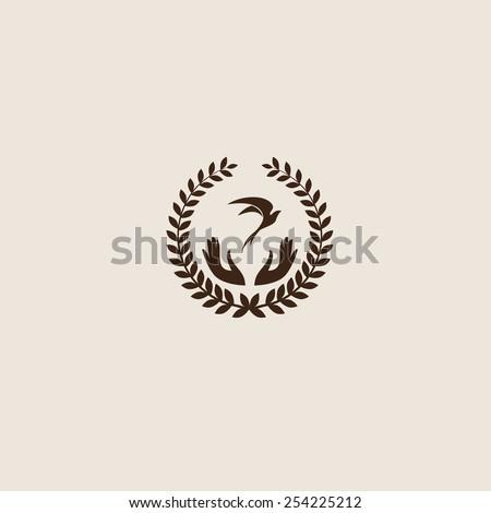 Swallow bird abstract vector logo design template. Creative concept symbol icon. Company logo design. - stock vector