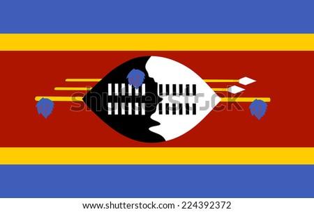 Swaziland flag vector. - stock vector