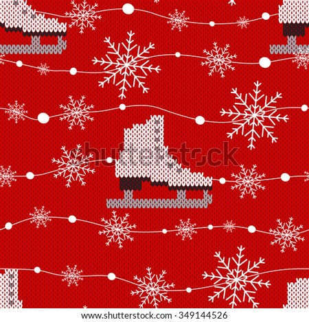 Sweater design. Seamless Knitting Pattern. Holiday background, snowflake background, snowflake template, snowflake decorations, Christmas Decoration. Knitting Pattern. EPS10 vector illustration.  - stock vector