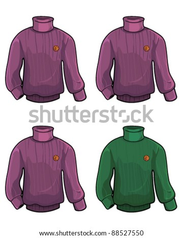 Sweater isolated - stock vector