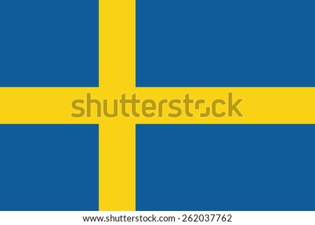 Sweden Flag. Vector Illustration - stock vector