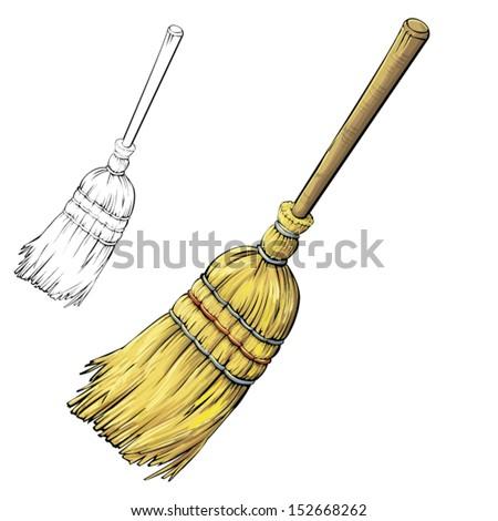 sweep - stock vector