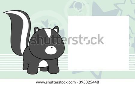 Sweet Baby Skunk Cartoon Frame Background Stock Vector 395325448 ...