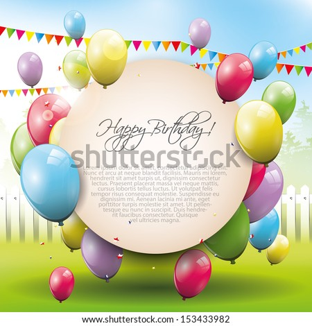 Sweet birthday background with place for text  - stock vector