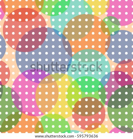Sweet Bubbles with futuristic white circles. Seamless Texture for background image on websites, e-mails, etc. Cream-colored Background.