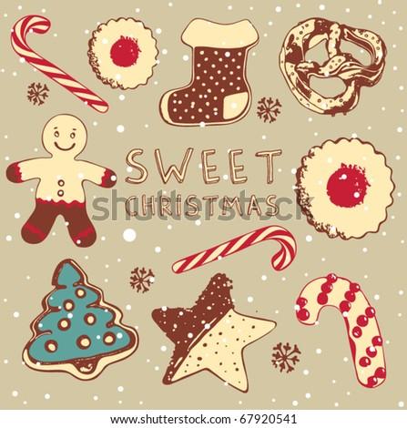 Sweet cake. - stock vector