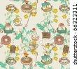 sweet cake seamless pattern - stock photo