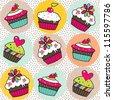 Sweet cake. Seamless pattern. Vector. - stock vector