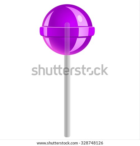 sweet candy lollipop isolated on white background - stock vector