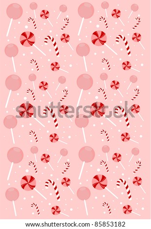 sweet candy seamless pattern vector - stock vector