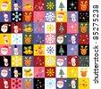 sweet Christmas pattern - stock vector