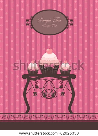 sweet cupcake design - stock vector