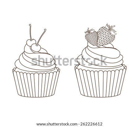 sweet cupcake design, vector illustration eps10 graphic