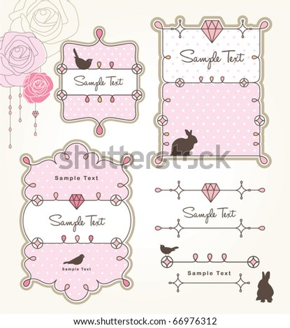 sweet design elements - stock vector