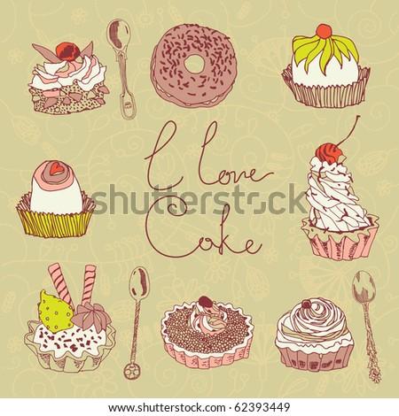 sweet dessert - stock vector