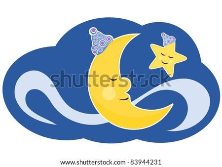 sweet dreams - stock vector
