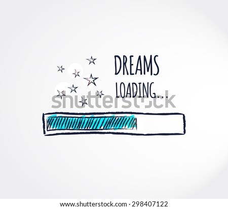 Sweet dreams loading concept. Progress bar design. Good night funny background. Vector illustration - stock vector