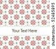 Sweet flower print - stock vector