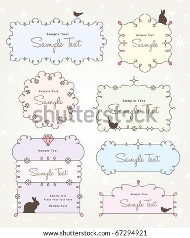 sweet frames design - stock vector