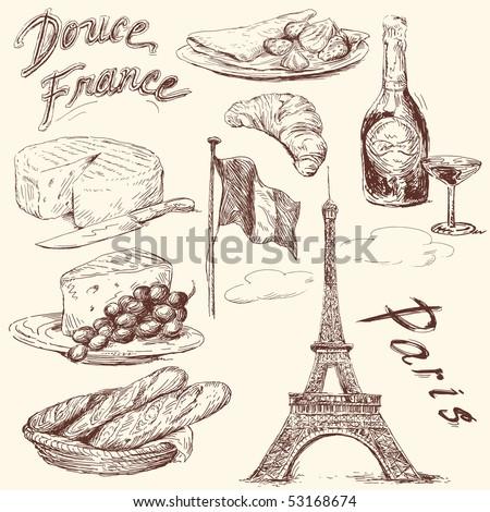 sweet france - stock vector