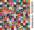 sweet fun pattern - stock vector