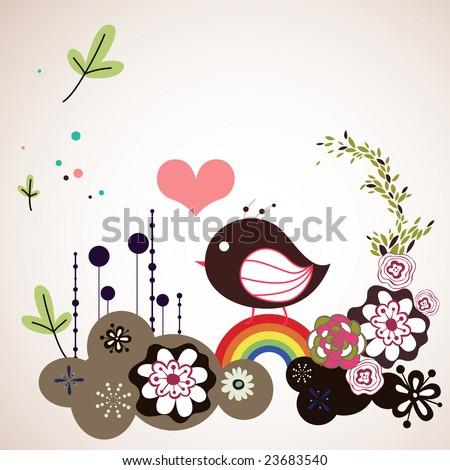sweet garden bord - stock vector