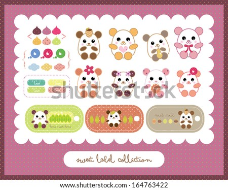 sweet hamster collection - stock vector