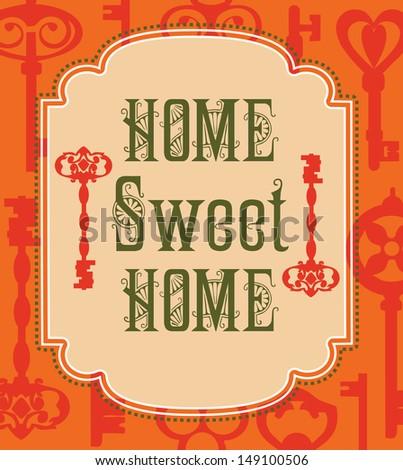 sweet home card design. vector illustration - stock vector