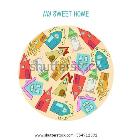 sweet home vector - stock vector