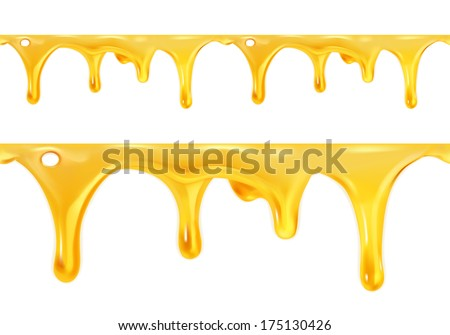 Sweet honey drips seamless vector - stock vector