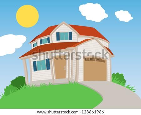 Sweet house - stock vector